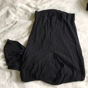 Express skirt black open front button up size med
